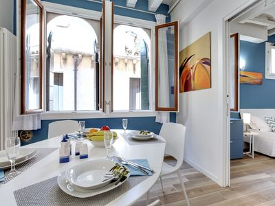 Photo for Bright apartment with large windows,washing machine and wifi-Biennale area