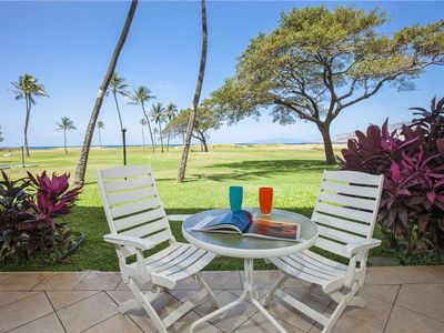 Photo for Ocean Front ground floor 2bd/2ba condo at the Kauhale Makai #114