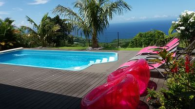Photo for House 6 pers, magnificent ocean view, private heated pool