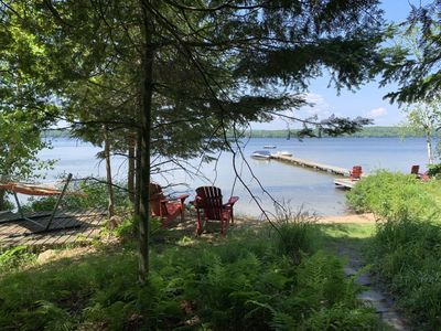 Photo for Classic Muskoka Cottage with Sand Beach on Peninsula Lake