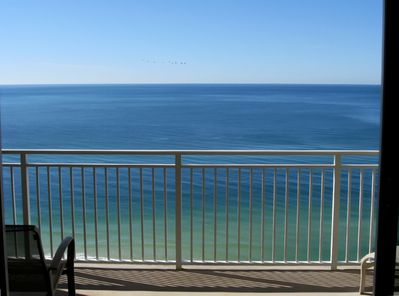 View of the gulf from your private balcony.