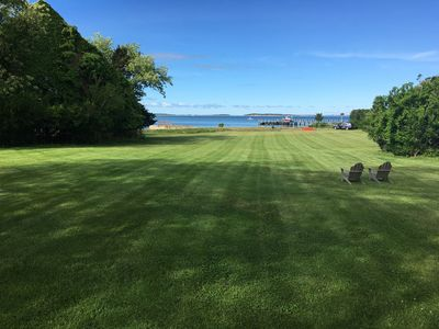 Photo for Shelter Island waterfront home with private beach, tennis court, your own kayaks