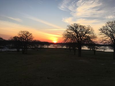 Photo for Lakefront on Lake Lewisville! Ski, boat, fish!!