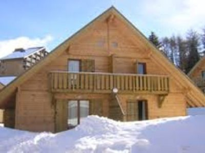 Photo for RENT WOOD CHALET LA JOUE DU LOUP 5 pers maximum HEATED POOL AND SAUNA