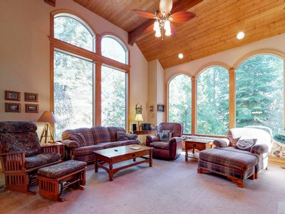 Photo for Modern mountain home w/ a large deck, a game room, only minutes from SL Village!