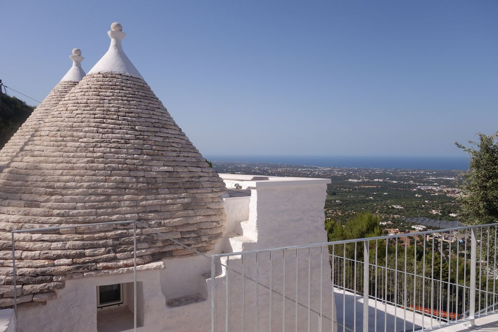 Luxurious Trullo Sleeps 4 With Panoramic Sea View In Fashionable Holiday Area Selva Di Fasano