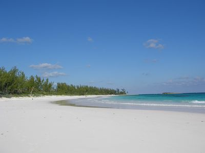 World-famous French Leave Beach, a mile long crescent of pink sand, a short walk from Peach House
