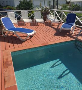 Villa Azure Decking with private pool.