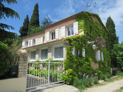 Photo for Charming house in Provencal Gard, large garden, swimming pool, children's games