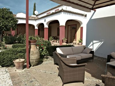 Photo for Magnificent Andalusian style country house with large pool and stunning views