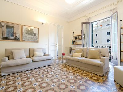 Photo for Classic Spanish Flat with original mosaic floors and spacious rooms - B361