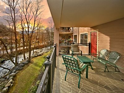 Photo for Riverfront Relaxation, 2 Bedrooms, Sleeps 4, Close to Town, On Trolley Route
