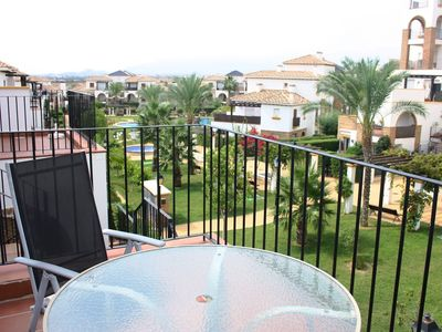 Photo for Apartment in gated community with Wifi and views of the pool and gardens