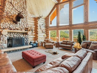 Photo for Exquisite & spacious home on over 56 acres w/ Ping-Pong, fireplaces, & views