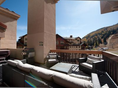 Photo for Remodeled Penthouse - Ski In/Out - Huge Decks/Views - Private Hot Tub/Sauna