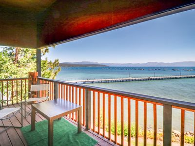 Photo for Lakefront condo with views, lake access, shared pool, and tennis!