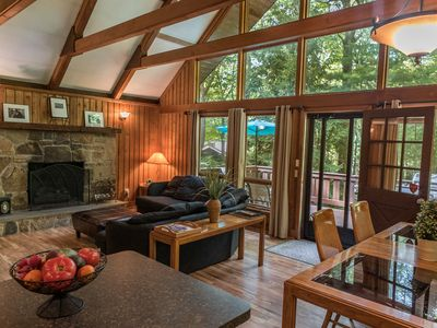 Photo for Beautiful Lake Harmony chalet - lake access, close to ski resorts & attractions