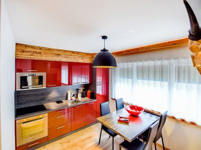 Photo for A two room discret, cozy apartment nicely decorated style chalet, în The center of Crans Montana.