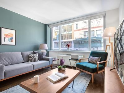 Photo for Gracious Flatiron 1BR w/ Gym, Rooftop + Doorman by Blueground