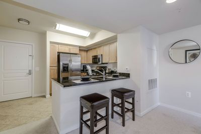 Kitchen with counter seating