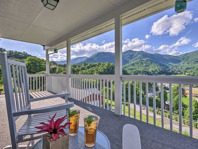 Photo for NEW! Maggie Valley House w/ Mtn Views - 1 Mi to DT