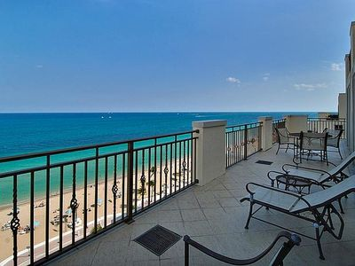 View of Fort Lauderdale Beach and the Atlantic Ocean from the unit's balcony