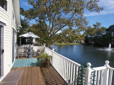 Photo for Ocean Lakes Lakefront Palace - Private Hot Tub & Golf Cart Included
