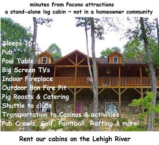 also see #4743836 for 6 bedrooms also on Lehigh River (rent both for large grps)