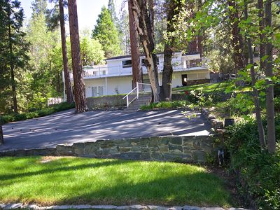 Photo for Beautiful Views of Bass Lake from Large Outdoor Patio with Fireplace