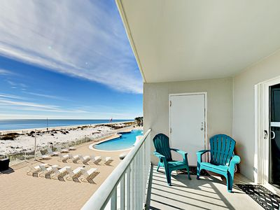 Photo for Oceanfront 2BR Gulf Shores Condo w/ Private Balcony - Largest Pool in  Region