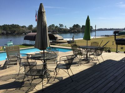 Photo for Luxurious Waterfront Home - SPARKLING POOL * GOOD FISHING* GOLF COMMUNITY