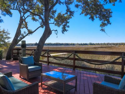 Photo for Amazing Backyard Deck with NEW Hot Tub, Boat Dock & Views of the Ashley River