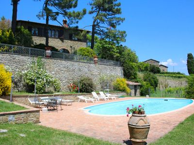 Photo for Beautiful Villa with private pool and garden. Panoramic and quiet position. Monte San Savino.