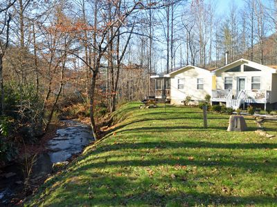 Photo for Nanny's Creek Side Cabin - Pet Friendly - 4 person HOT TUB -LOCATION-Sleeps 8
