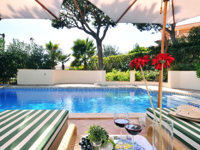 Photo for 4 bedroom Villa, sleeps 8 in Vale do Garrao with Pool, Air Con and WiFi