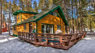 Photo for Classic Tahoe A-Frame Cabin In The Woods With WiFi, Hot Tub And Budget Rates!