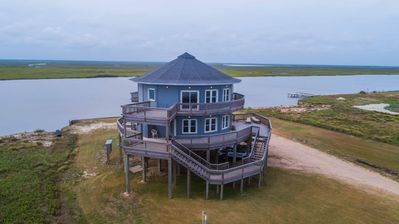 Photo for THE ROUND HOUSE AT SARGENT BEACH AMAZING 360 DEGREE VIEWS