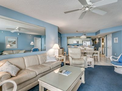 Photo for Ocean Bay Club 1402, 4 Bedroom Beachfront Condo, Hot Tub and Free Wi-Fi!