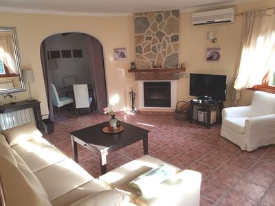 Photo for Mediterranean house with decorat. Garden, air conditioning, WIFI, barbecue, large terrace, fireplace, gas