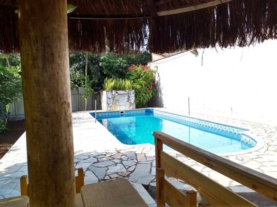 Photo for Chacara in the center of Ubatuba with pool and barbecue.