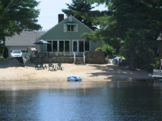 Photo for Beautiful Lakefront Cottage on Little Sebago with Sandy, Private Beach