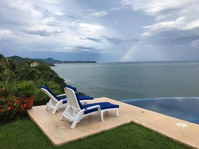 View from the infinity pool -with rainbow