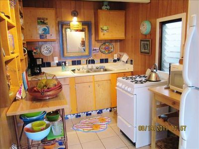 Kitchen of lower King Suite