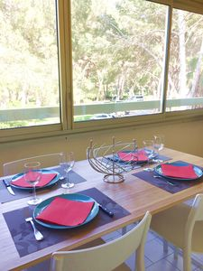 Photo for Pleasant modern well equipped T2, pool, near beach, parking, loggia, wifi