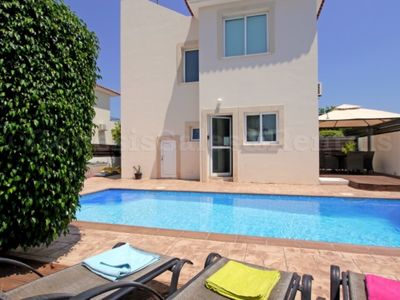 Photo for VILLA SEAVIEW 3 BED PRIVATE POOL PERNERA JUST 5 MINS WALK TO BEACH