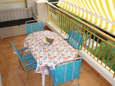 Photo for Homerez last minute deal - Nice apt with pool access and balcony
