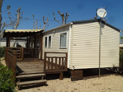 Photo for 3BR Mobile Home Vacation Rental in Valras-Plage, Occitanie
