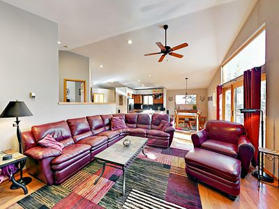 Photo for 3BR w/ Deck, Fire Pit & BBQ - Walk to Hiking, On Free Bus Route