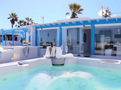 Photo for Beach front house with jacuzzi in Fuerteventura.