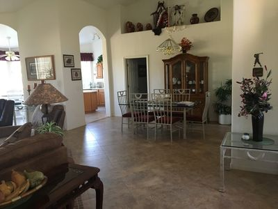 View into Dining Room and kitchen